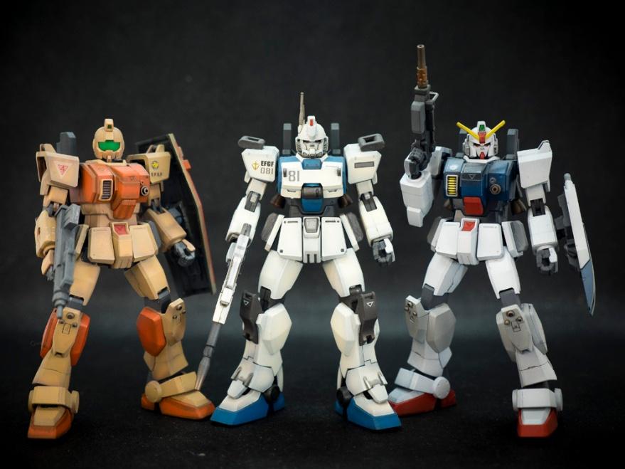 Bandai 1/144 HG RGM-79[G] GM Ground Type, Bandai 1/144 HG RX-79[G] Gundam Ground Type, Bandai 1/144 HG RX-79[G] Ez-8 Gundam Ez8