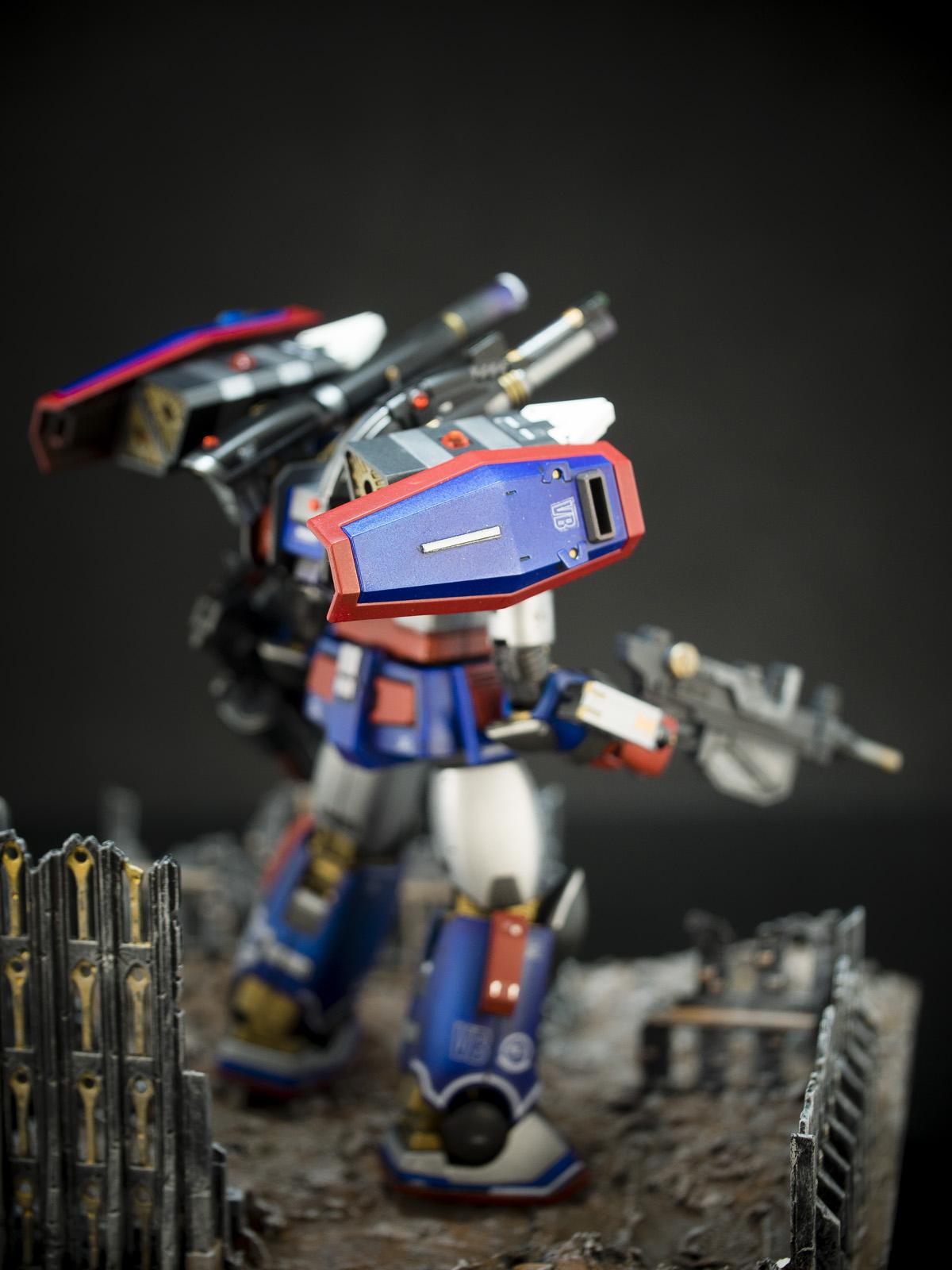 Bandai 1/144 HG RCX-76-02 Guncannon First Type [Iron Cavalry Squadron] [Iron Patriot Custom]